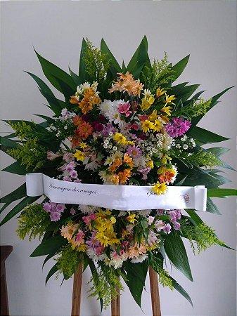 Coroa Fúnebre Margaridas Mistas