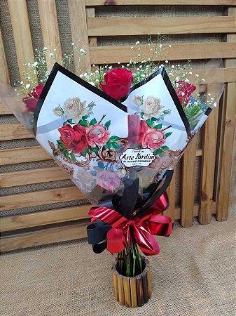 Buquê 6 Rosas (Vermelhas) Tradicional