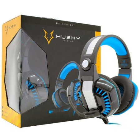 Headset Husky Gaming Snow 7.1 - USB - Surround - led azul
