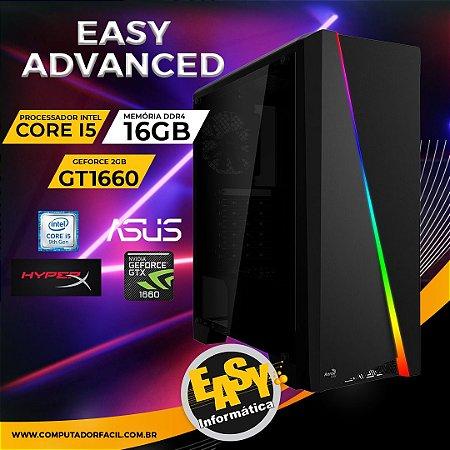 Pc Gamer Easy Advanced - Intel Core i5 9GH - 16Gb - SSD m.2 240GB - Placa de vídeo 1660 6Gb