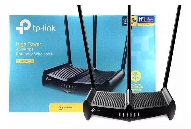 Roteador Tp Link Tl-wr 941hp 3 Antenas 8dbi N 450bps Alta Potência