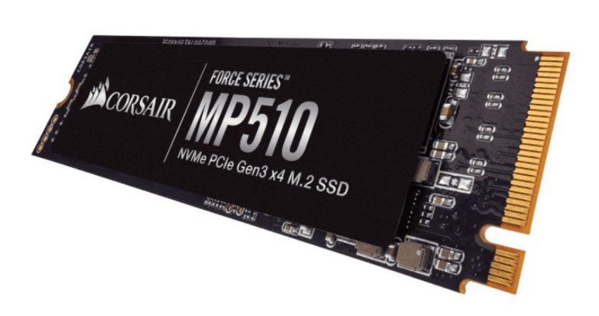 SSD Corsair Force Series MP510, 240GB, M.2 NVMe, Leitura 3100MB/s, Gravação 1050MB/s - CSSD-F240GBMP510