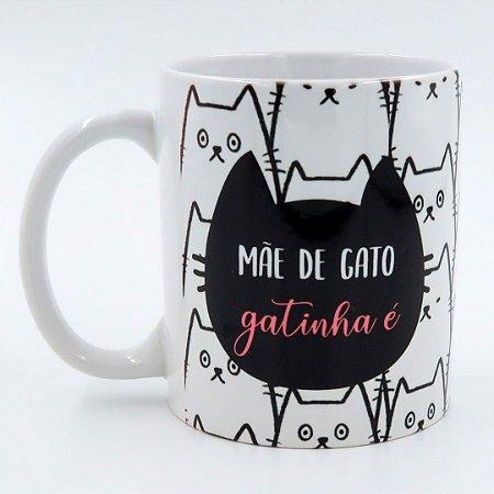 Caneca Mãe de gato gatinha é