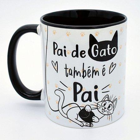 Caneca Pai de Gato também é Pai