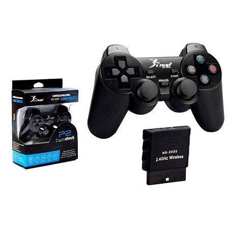 CONTROLE KNUP JOYSTICK PS2 SEM FIO VS2020