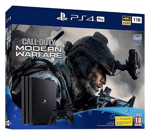 Console Playstation 4 Pro 1TB Call Of Duty Modern Warfare Bundle - Sony
