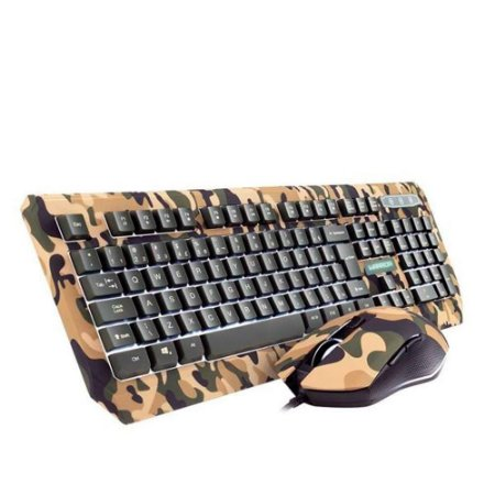 WARRIOR KYLER COMBO TECLADO E MOUSE ARMY TC249