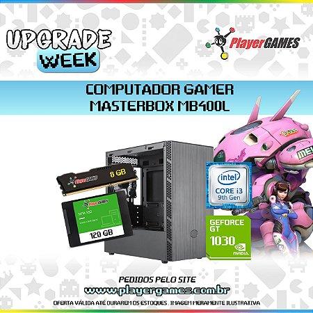 COMPUTADOR GAMER MASTERBOX MB400L - INTEL I3 9ºGER GEFORCE GT 1030 8GB SSD 120GB H310 BIOSTAR FONTE 500W