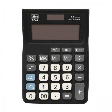 Calculadora De Bolso Tilibra Tc04 Grande C/12 Dígitos