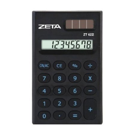 Calculadora De Bolso Zeta Zt622 Bk C/8 Dígitos
