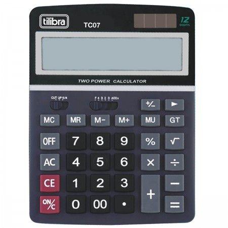 Calculadora De Mesa Tilibra Tc07 C/12 Dígitos