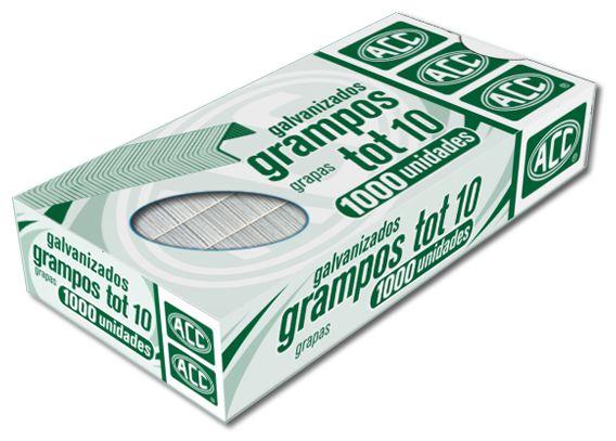 Grampos ACC Galvanizados TOT 10 P/Grampeador 1000 UND