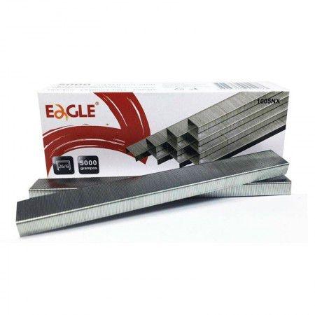 Grampos Eagle Galvanizados 26/6 P/Grampeador 5000 UND