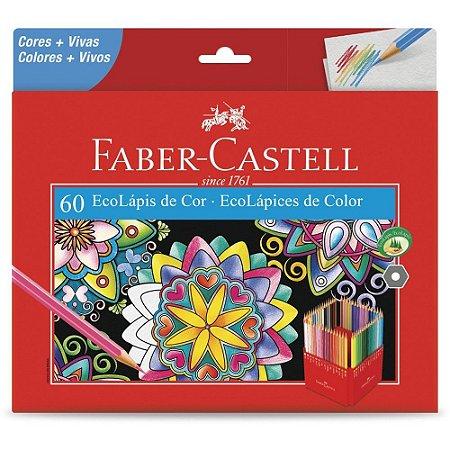 Lápis De Cor Faber Castell C/60 Cores Sextavado