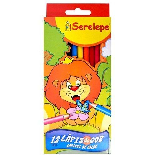 Lápis De Cor Serelepe C/12 Cores Sextavado