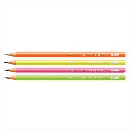 Lápis Preto Escolar Faber-Castell Max Neon Cores Sortidas