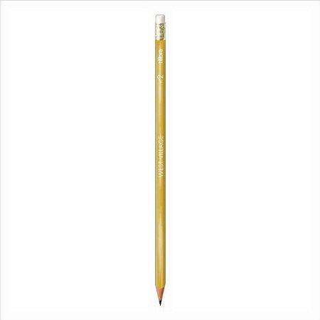 Lápis Preto Escolar Tilibra West Village Dourado C/Borracha
