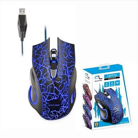 Mouse Gamer Multilaser Lightning Mo250 2400 Dpi