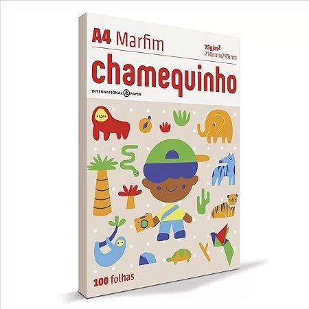 Papel Chamequinho 100F A4 75Gr Cor Marfim