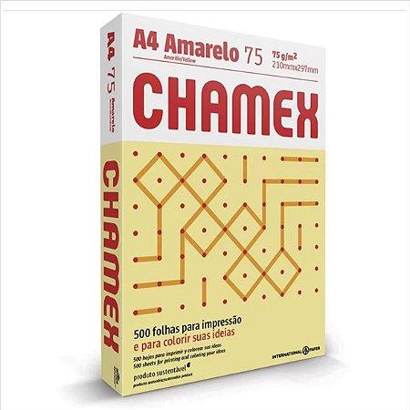 Papel Chamex 500F A4 75Gr Cor Amarelo