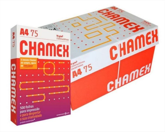 Caixa De Papel Chamex 5000F A4 75Gr C/10Pcts