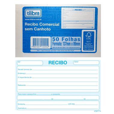 Recibo Comercial sem Canhoto Tilibra 50F 155454