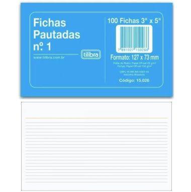 Ficha Pautada Tilibra 3X5 C/100 UND