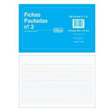 Ficha Pautada Tilibra 5X8 C/100