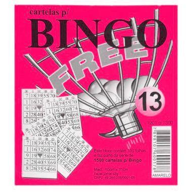 Bloco de Bingo Free Rosa