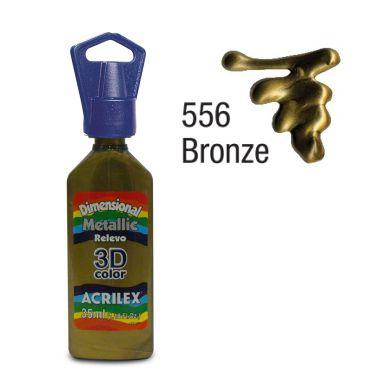Tinta Dimensional Metálica Acrilex 35ML Bronze 556