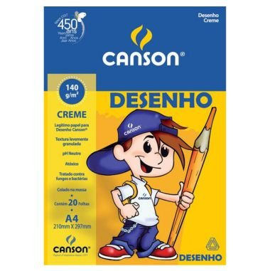Bloco Desenho Canson A4 140g Creme