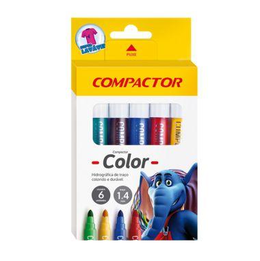 Pincel Hidrográfico Compactor Color C/6 Cores