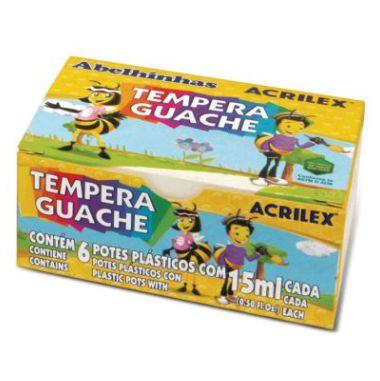 Tinta Guache Acrilex 6 Cores 15ml