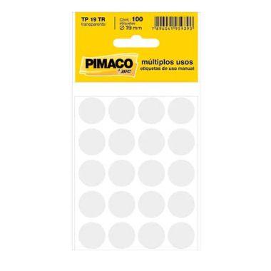 Etiqueta Pimaco Redonda TP19 Transparente