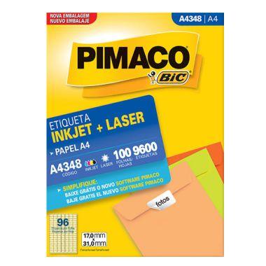 Etiqueta Pimaco A4 A4348 (96 Etiquetas P/Folha) C/100 UND
