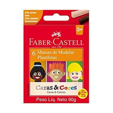 Massa De Modelar Faber-Castell Caras E Cores C/6 Cores
