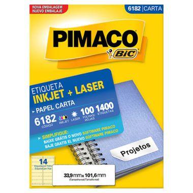Etiqueta Pimaco C/100 6182 (14) Carta