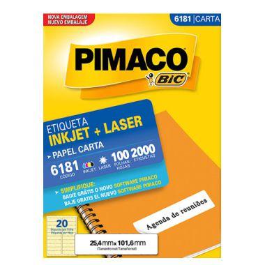 Etiqueta Pimaco C/100 6181 (20) Carta