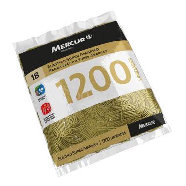 Elástico Mercur Super Amarelo N°18 Fino 500G 1200und