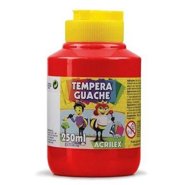 Tinta Guache Acrilex 250Ml Vermelho Fogo 507
