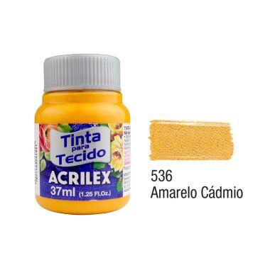 Tinta P/Tecido Fosca Acrilex 37ML Amarelo Cádmio 536