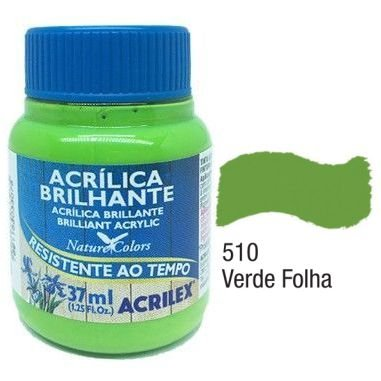 Tinta Acrílica Acrilex Brilhante 37Ml Verde Folha 510