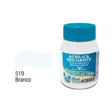 Tinta Acrílica Brilhante Acrilex 37ML Branco 519