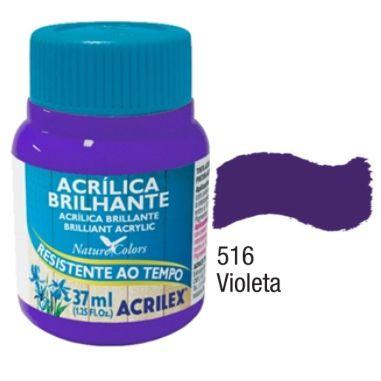 Tinta Acrílica Brilhante Acrilex 37ML Violeta 516