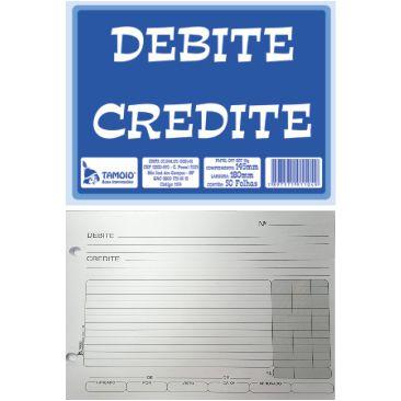 Debite Credite Tamoio 50 Folhas 1104