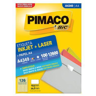 Etiqueta Pimaco A4 A4349 (126 Etiquetas P/Folha) C/100 UND