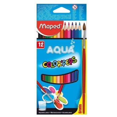 Lápis De Cor Maped Color Peps 12 Cores Aquarelável