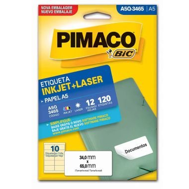 Etiqueta A5 Q3465 Pimaco