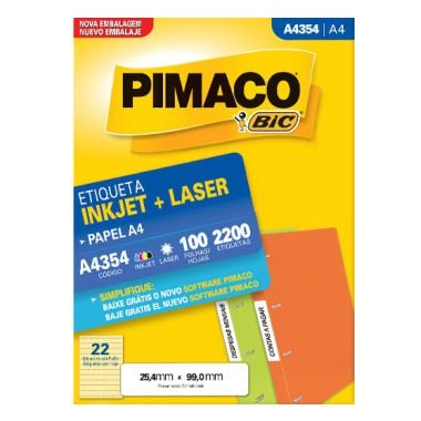 Etiqueta Pimaco C/100 A4354 (22) A4