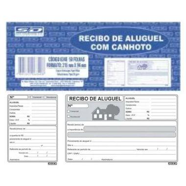 Recibo de Aluguel SD 50 Folhas 63404